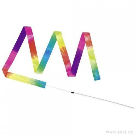 Gymnastická stuha s tyčkou - hračka - dvě varianty