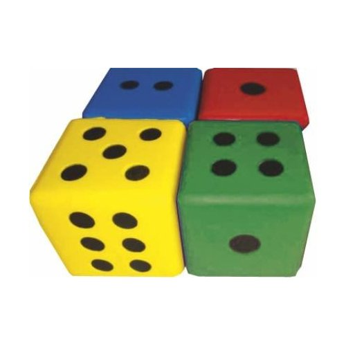 Kostka 8 cm s puntíky color