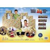 Cihličky pro děti - velká dětská stavebnice - 24 nebo 48 ks
